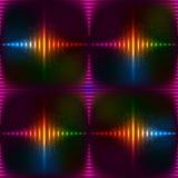 Abstracte neon glanzende vectorachtergrond Royalty-vrije Stock Afbeeldingen