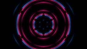 Abstracte neonlijnen in het ruimte, 3d teruggeven Stock Afbeeldingen