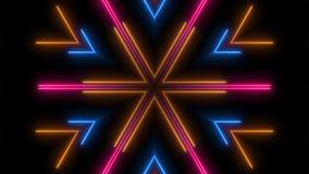 Abstracte neonlijnen in het ruimte, 3d teruggeven Royalty-vrije Stock Afbeeldingen