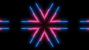 Abstracte neonlijnen in het ruimte, 3d teruggeven Stock Fotografie