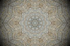 Abstracte netto mandala van het netwerknet stock afbeelding