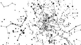 Abstracte Netwerk Bewegende Achtergrond Naadloze lijn vector illustratie