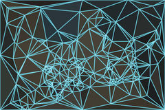 Abstracte Netwerk Lage Poly Stock Afbeelding
