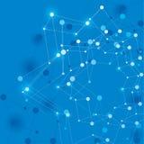 Abstracte netwerk vectorillustratie, malplaatje voor de lay-outs van het technologiethema Royalty-vrije Stock Afbeelding
