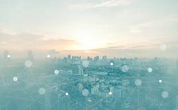 Abstracte netwerkachtergrond Royalty-vrije Stock Foto