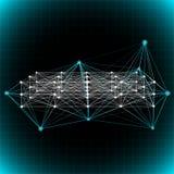 Abstracte netwerkachtergrond. Stock Afbeelding