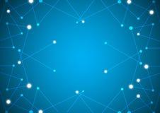 Abstracte netwerkachtergrond Royalty-vrije Stock Afbeelding