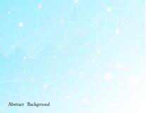 Abstracte netwerkachtergrond met cirkel, Lijn en vorm Royalty-vrije Stock Foto's