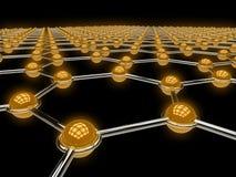 Abstracte netwerkillustratie Stock Afbeeldingen