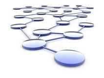 Abstracte netwerkregeling royalty-vrije illustratie