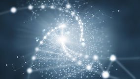 Abstracte netwerkverbinding op donkere achtergrond Royalty-vrije Stock Afbeelding