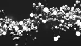 Abstracte neurale netto vector illustratie