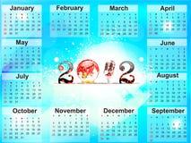 Abstracte nieuwe jaarkalender Royalty-vrije Stock Foto