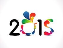 Abstracte nieuwe jaartekst Stock Afbeeldingen