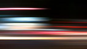 Abstracte Nightride-Snelheid op zwarte Achtergrond Stock Fotografie