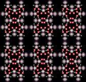 De abstracte samenstelling van de kleur met een kleurenballen en zwarte backgrou Royalty-vrije Stock Foto