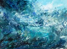 Abstracte oceaangolven stock fotografie