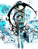 Abstracte ogen Royalty-vrije Stock Foto's