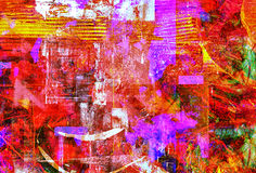 Abstracte olie Stock Foto