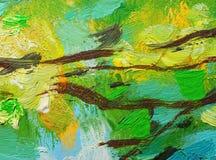 Abstracte olieverfschilderijachtergrond royalty-vrije stock foto