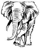 Abstracte Olifant royalty-vrije illustratie