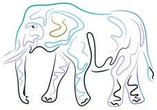 Abstracte Olifant stock illustratie