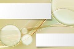 Abstracte [Omgezette] banner Royalty-vrije Stock Afbeeldingen