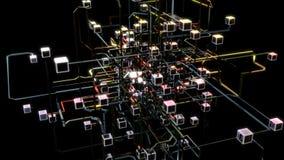 Abstracte omzettende kubus vector illustratie