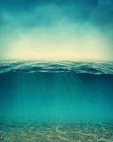 Abstracte onderwaterachtergrond Royalty-vrije Stock Afbeelding