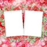 Abstracte onduidelijk beeld boke achtergrond met document frame Stock Afbeelding
