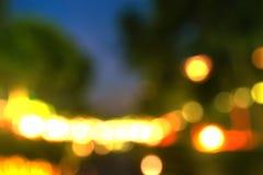Abstracte onduidelijk beeldfotografie van van verlichting Stock Afbeeldingen