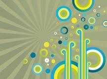 Abstracte ontwerp retro achtergrond Royalty-vrije Illustratie