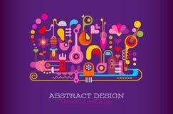 Abstracte ontwerp vectorachtergrond Stock Foto's
