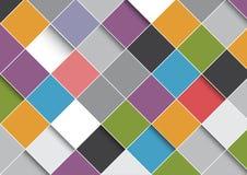 Abstracte ontwerpachtergrond met vierkantenpatroon stock illustratie