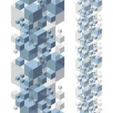 Abstracte ontwerpachtergrond, naadloos patroon Stock Foto