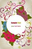 Abstracte oosterse bloemenkaart Royalty-vrije Stock Foto's