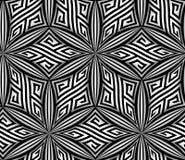Abstracte Op Art ZigZag Vector Seamless Pattern royalty-vrije illustratie