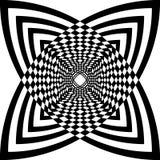 Abstracte op kunst zwart-witte geometrische achtergrond vector illustratie