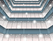 Abstracte oppervlakteachtergrond in perspectief Royalty-vrije Stock Afbeeldingen