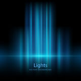 Abstracte opvlammende lichte vectorachtergronden Stock Fotografie