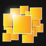 Abstracte oranje achtergrond. Vector illustratie. Royalty-vrije Stock Foto