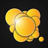 Abstracte oranje achtergrond. Vector illustratie. Stock Foto