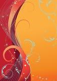 Abstracte oranje bloemenachtergrond. Stock Fotografie