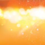 Abstracte oranje bokehachtergrond Royalty-vrije Stock Afbeelding