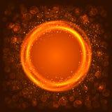 Abstracte oranje cirkel Royalty-vrije Stock Afbeeldingen