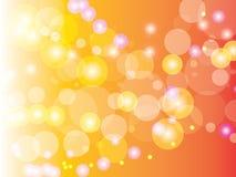 Abstracte Oranje cirkelbokehachtergrond Vector illustratie Royalty-vrije Stock Foto