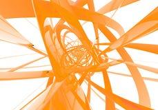 Abstracte oranje draden Stock Fotografie