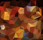 Abstracte Oranje driehoeks geometrische achtergrond Vector illustratie stock illustratie