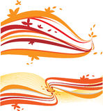 Abstracte oranje golven Stock Afbeelding