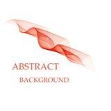 Abstracte oranje golven - het concept van de gegevensstroom Vector illustratie Stock Afbeelding